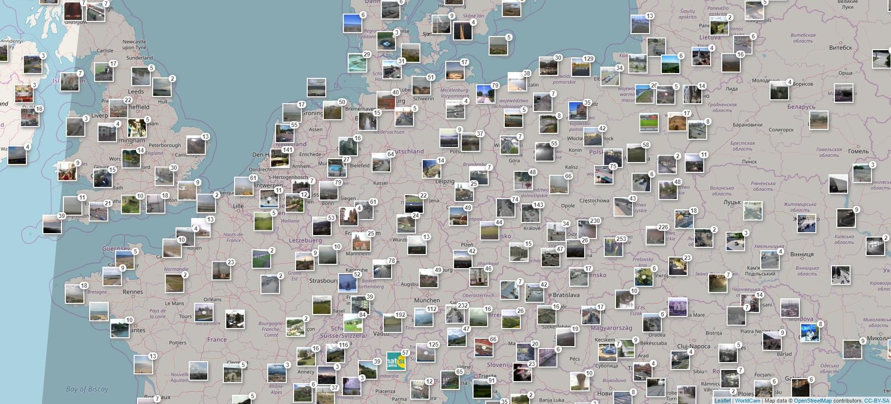 Kamery mapa