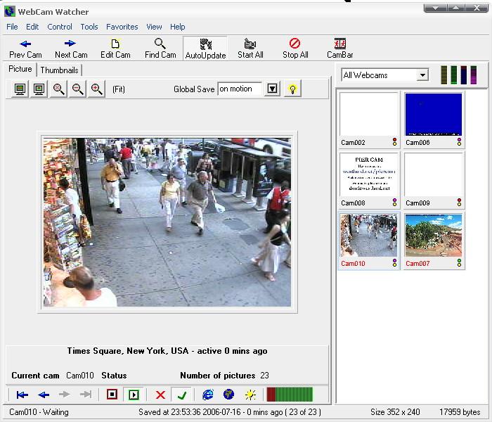 Webcam Watcher observe les webcams pour vous, mais ce n'est pas tout, ...