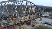 Budowa mostu na rzece Pasłęce