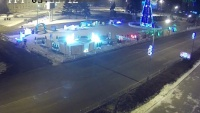 Ussuriysk - Central square, traffic