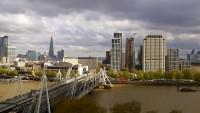 Londyn - London Eye, Hungerford Bridge