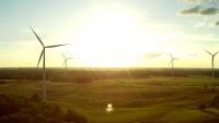 Laukuvos seniūnija - Elektrownia wiatrowa