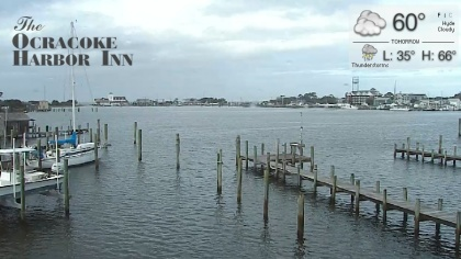 Ocracoke silver lake harbor north carolina usa webcams for Oregon inlet fishing center camera
